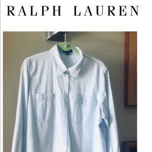 Ralph Lauren Classic Blue Button Down Shirt 1W